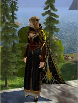 Elf Runekeeper dressed in black
